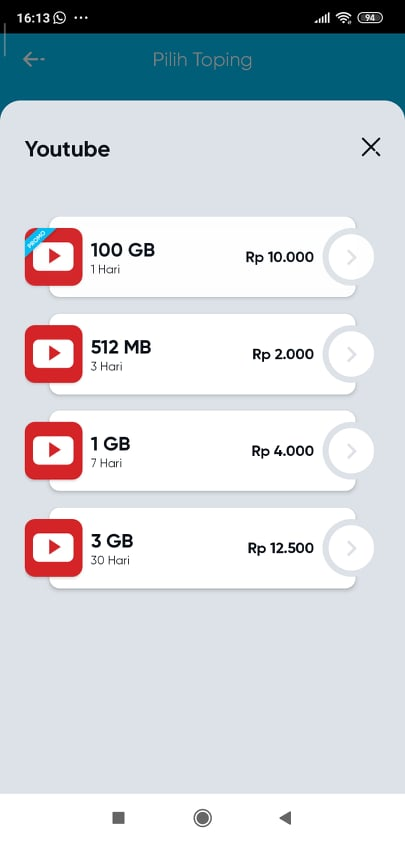 Beli Paket Topping Youtube By U