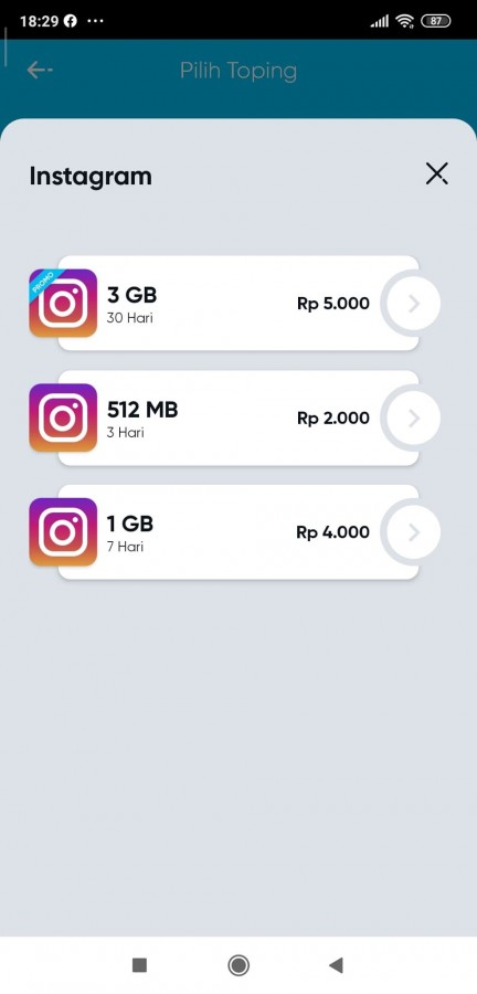 Beli Paket Topping Instagram By U