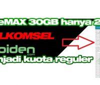 GamesMAX Telkomsel Menjadi Kuota Reguler