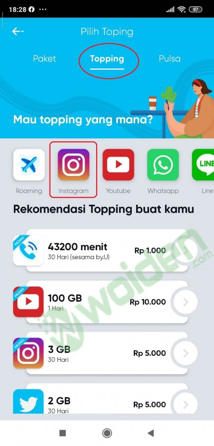 topping by u instagram