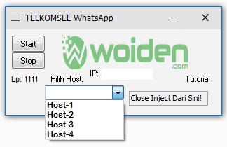 Inject Telkomsel WhatsApp