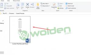 Cara menambahkan thumbnail pada file microsoft office word
