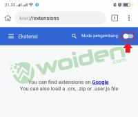 trik menginstall extension chrome di browser smartphone