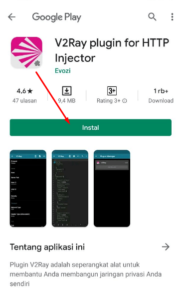 V2Ray plugin for HTTP Injector