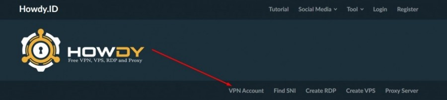 Howdy Trojan VPN di PC untuk Trik Internet Gratis